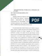 Queja Al Defensor Del Pueblo Vecinos Rurales de Rojas Red Vial (3)
