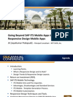 0614 Going Beyond SAP ITS Mobile Apps to a Responsive Design Mobile Apps