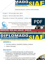 Diplomado Siaf Abril 2014