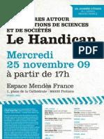 """Programme de la soirée """"handicap"""" du 25 novembre 2009"""