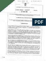 Resolucion 1057 de 2010 Miel de Abejas