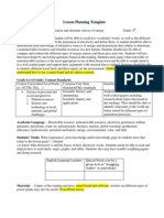 lesson planning template electricity 3 with tech 2013