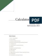 Calculator Project Workbook