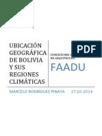 UBICACIÓN GEOGRÁFICA DE BOLIVIA Y SUS REGIONES CLIMÁTICAS