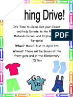 Clothing Drive Flyer (Read-Only)