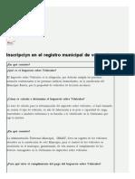 Inscripción en el registro municipal de vehículo _ Alcaldia Baruta