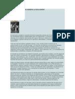 DÓNDE Y CUÁNDO SE GENERA LA EXCLUSIÓN