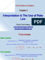 3-Interpretation & the Use of Rate Law