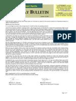 HS Friday Bulletin 10.23.09