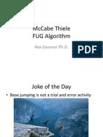 McCabe Thiele FUG Algorithm