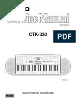 29081 Casio CTK-330 Teclado Electronico Manual de Servicio