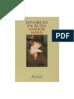 Marai Sandor - Divorcio en Buda