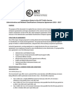 Explanatory Notes Administrative and Related Classifications Enterprise Agreement 2013 2017