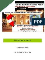 Taller DEMOCRACIA Principios y Proc. 2014