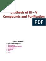 Sythesis of III - V