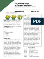 Newsletter 3-28-14