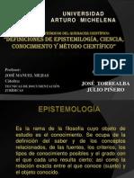 FUNDAMENTOS TEÓRICOS DEL QUEHACER CIENTÍFICO