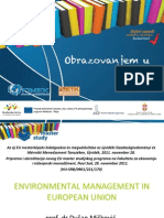 ENVIRONMENTAL MANAGEMENT IN EUROPEAN UNION