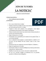 GUIÓN DE TUTORÍA. LA NOTICIA 1