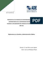 PROPUESTA DE UN MODELO DE RESPONSABILIDAD SOCIAL UNIVERSITARIA EN LA UNIVERSIDAD POLITÉCNICA DE V