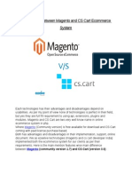 Comparison Between Magento and CS Cart Ecommerce System