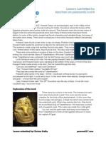 Tutankhamun Worksheet