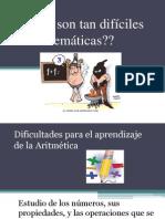 Dificultades para el aprendizaje de la Aritmetica.pptx