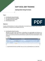 Analyzing Data Using Formulas A
