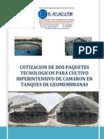2.- Cotizacion 2 Paquetes de Camaron, Ing. Armando