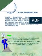 Asegurmiento de La Calidad Analitica 17025 Lopez