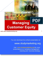 Customer Equity ppt