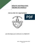 GUIA metológica del CONTENIDO DE UN  PROYECTO