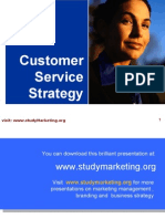 Customer Service Strategy