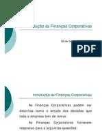 1 Introdução às Finanças Corporativas (18fev08)