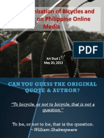 The Canonization of Bicycles and Bicycling on Philippine Online Media