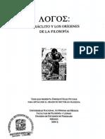 Logos, Heraclito y los origenes de la filosofia - Enrique Hülsz Piccone - UNAM