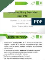 Peso Especifico y Densidad Aparente Hidro