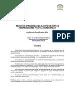 Técnicas optimizadas de ajuste de curvas independientes y curvas integradas