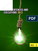 Amnesty International Report on Death Sentences and Execution 2013