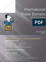 Barriers of Trade