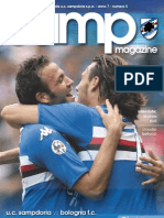 Match Program - Sampdoria vs Bologna - 24-10-09