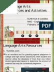 j  language arts resources and activities