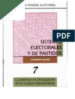 Cuaderno Ife Sistemas Electorales y Partidos