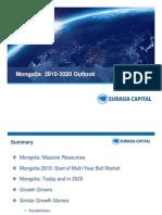 Mongolia Outlook 2020