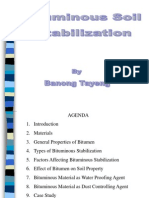 Bituminous soil stabilization