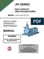Manual de Instalare Pompe de Vacuum