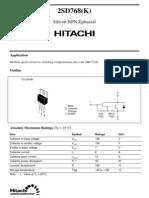 2SD768 Datasheet