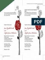 Formal Red Roses Invite