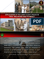 APPLICATION OF PAK ARMY'S SOFT PRONG IN FATA / MALAKAND AND ITS IMPACT