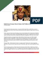 Inilah Kasus Korupsi Jokowi Selama Jadi Walikota Solo